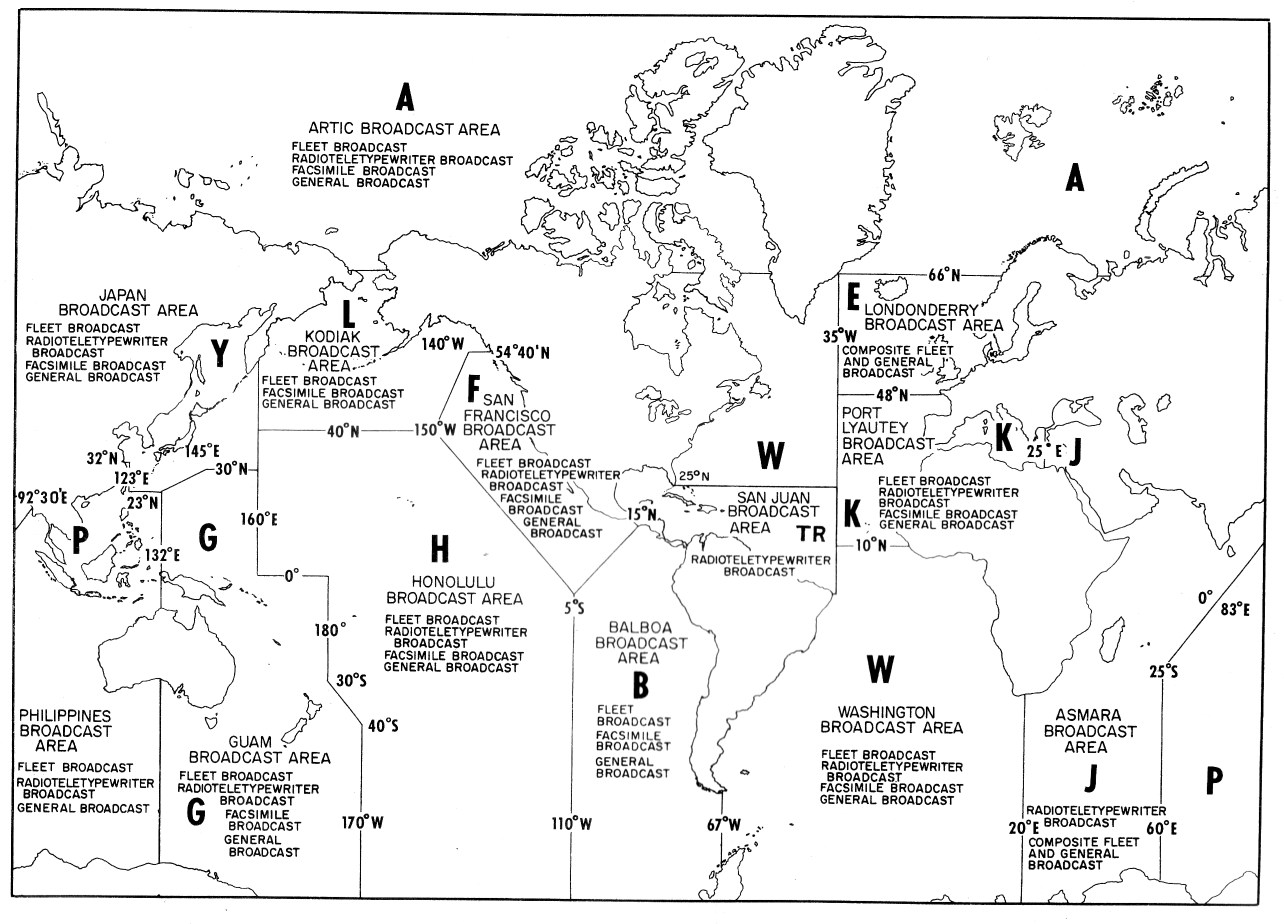 Navy Radio Circuits Traffic Handling And Messages - Us navy fleet map