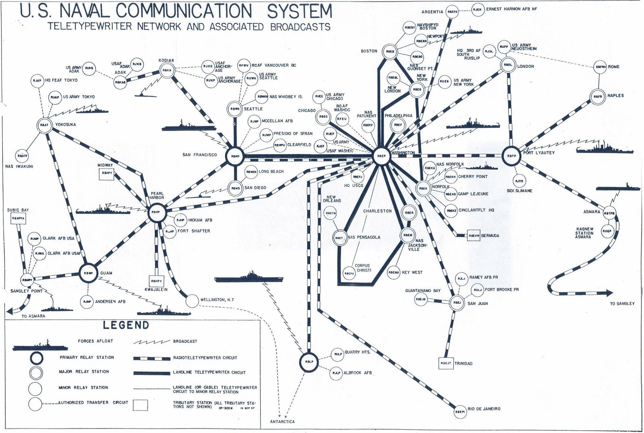 Info On US Navy Comm Stations - Us navy ship map
