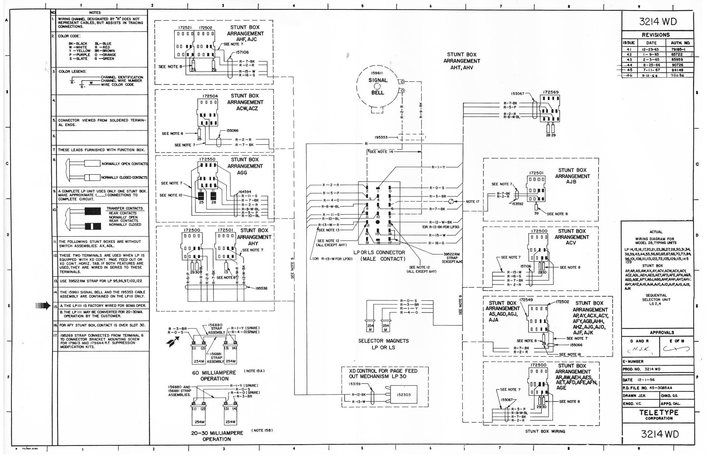 Teletype Corp Maintenance Installation Operation And Parts W 4 Radio Wire Diagram Wiring 3214wd Jpeg