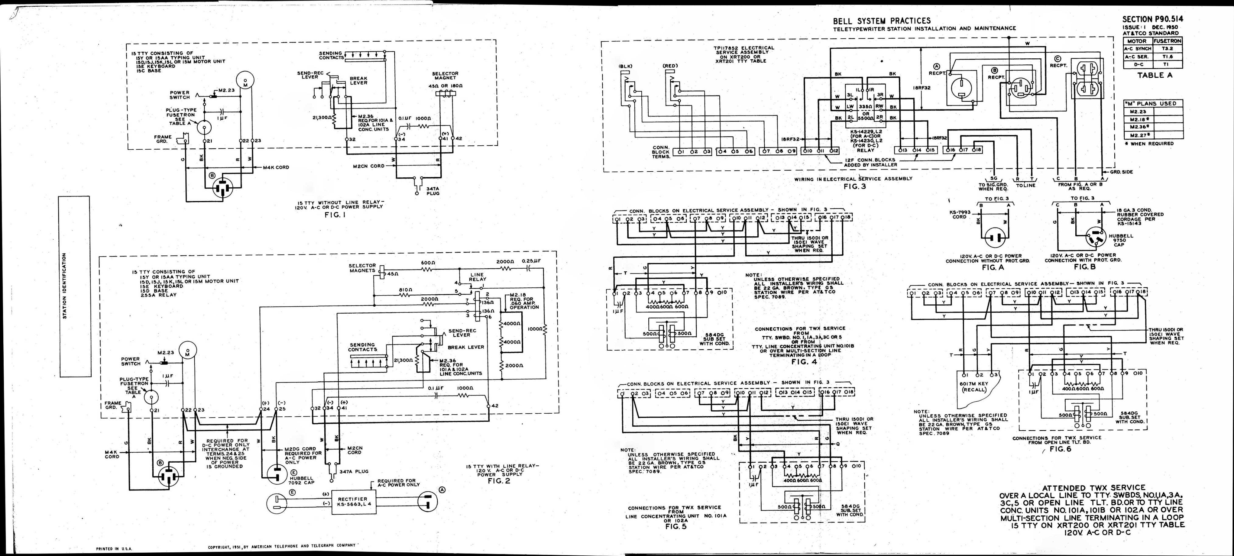 Teletype Wiring Diagrams and Schematics on