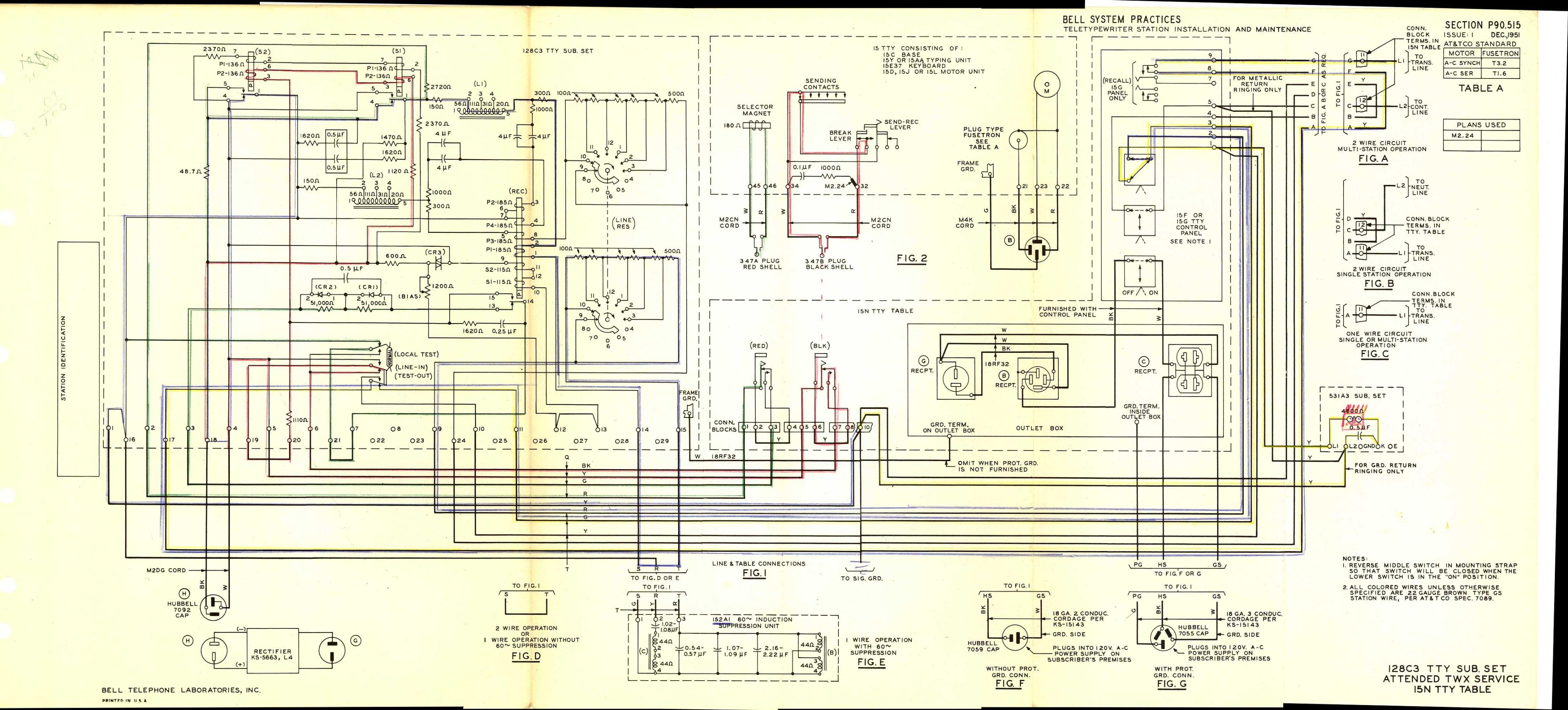 Teletype Wiring Diagrams And Schematics Western Electric 500 Diagram P90515 Link