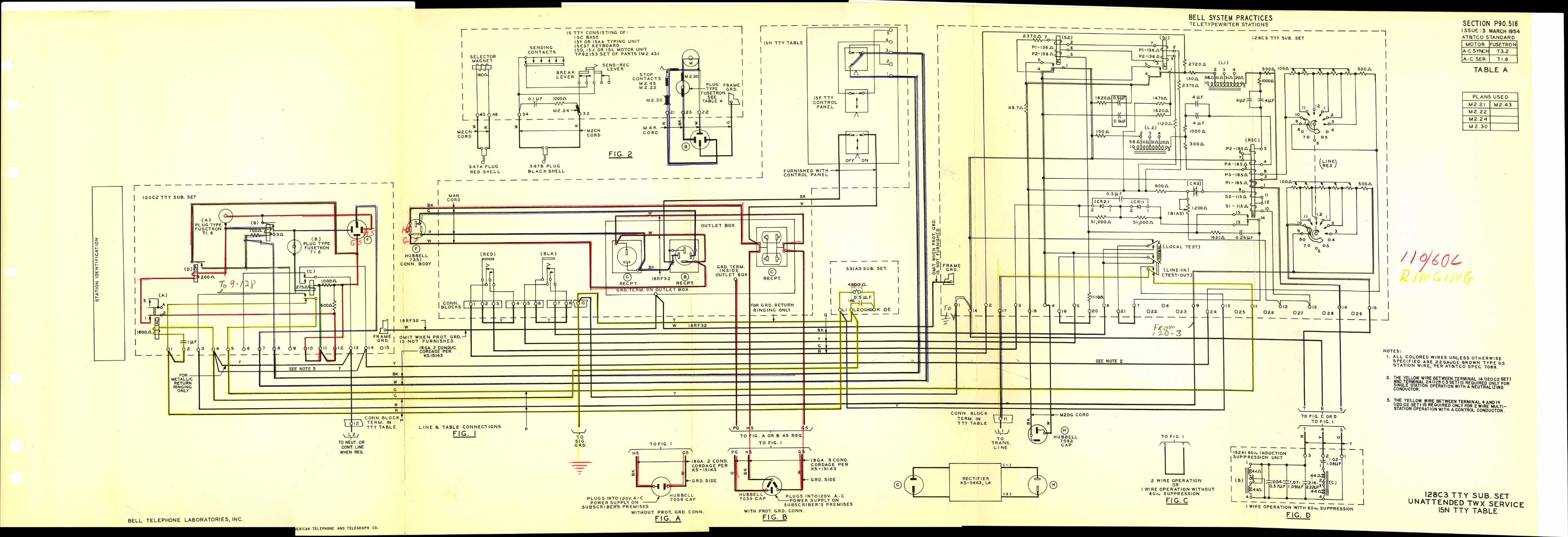 Teletype Wiring Diagrams And Schematics P90 Diagram 2 P90516 Link