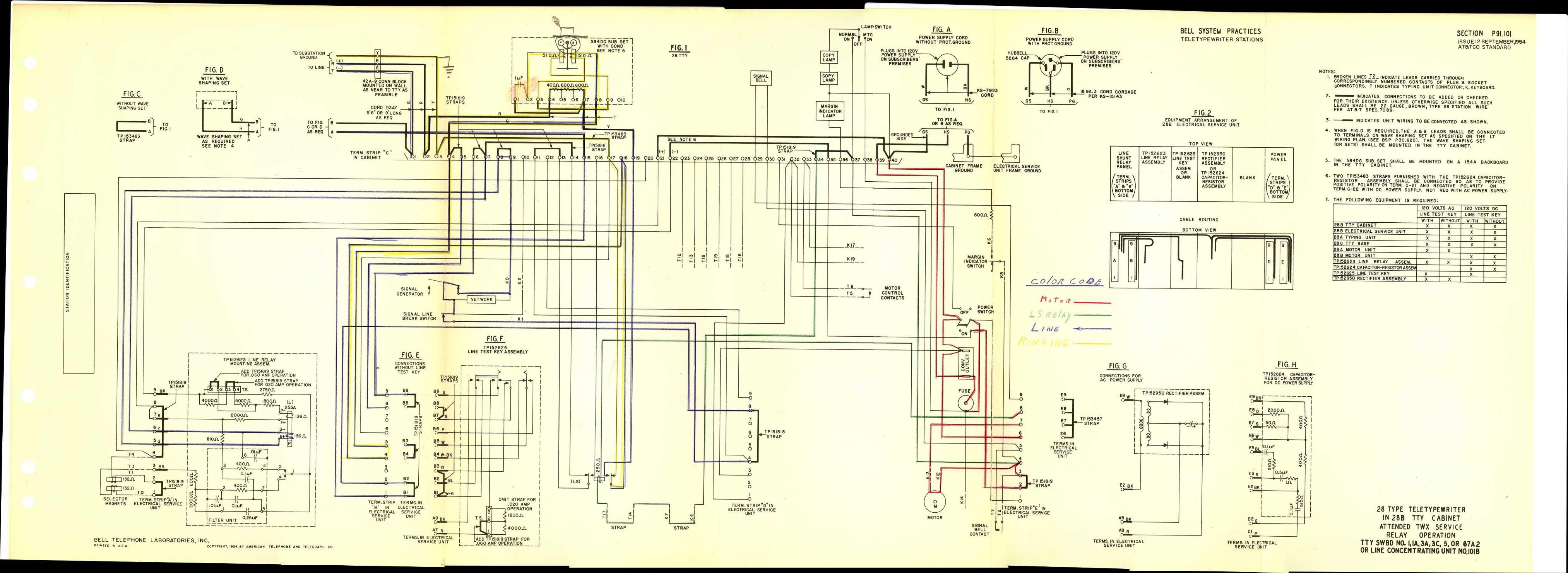 Teletype Wiring Diagrams And Schematics Western Electric 500 Diagram P91101 Link