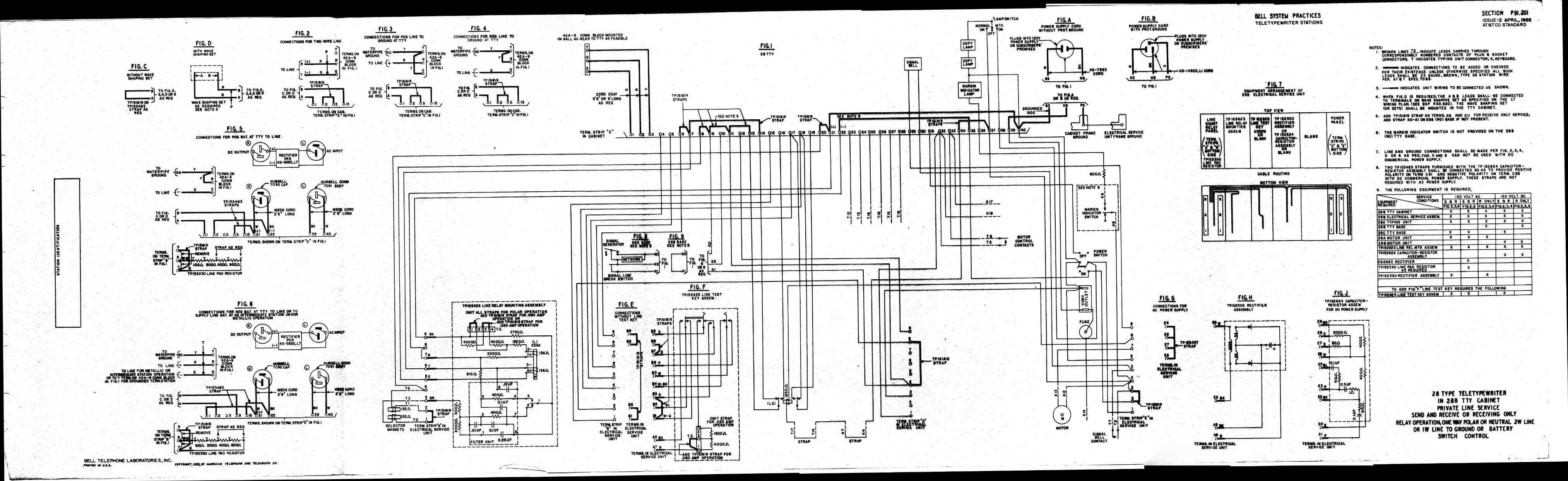 Teletype Wiring Diagrams And Schematics Magnetic Strip Diagram P91201 Link