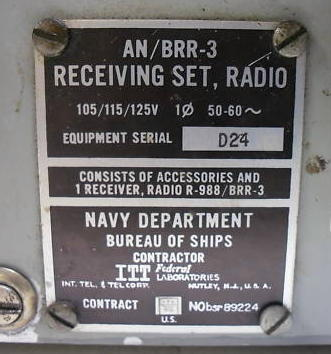 US Navy LF & VLF Receivers - 1950's