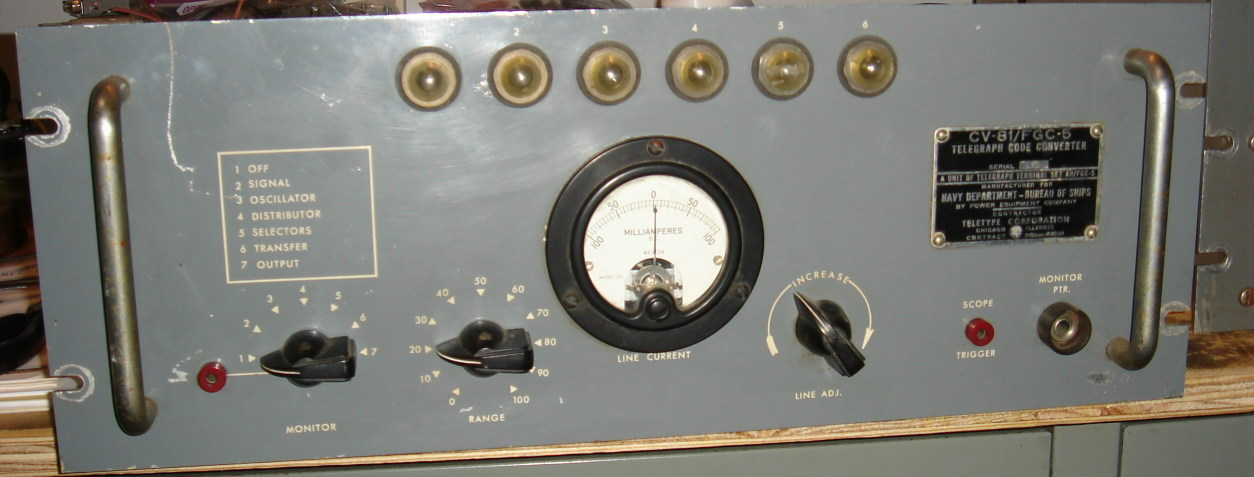 us navy rtty equipment