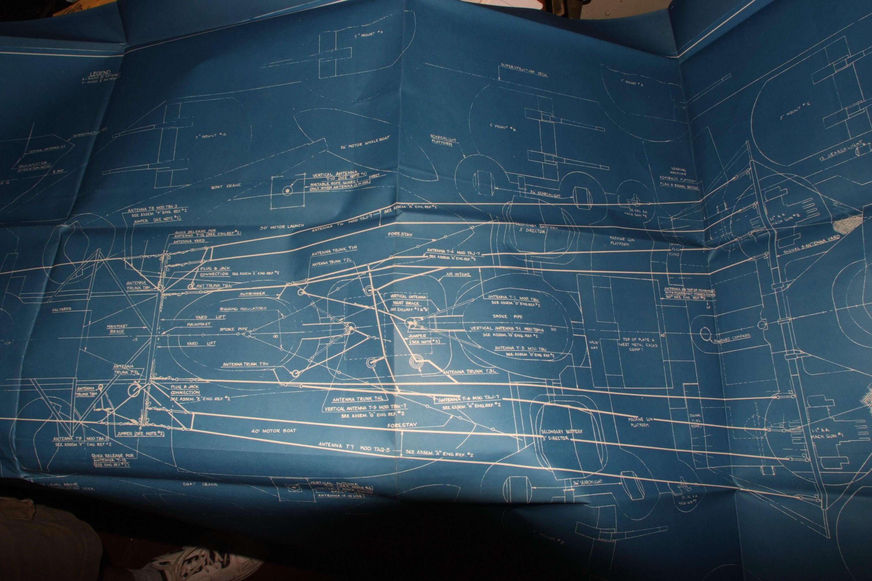 Uss north carolina bb 55 antennas 1041 blueprints malvernweather Image collections