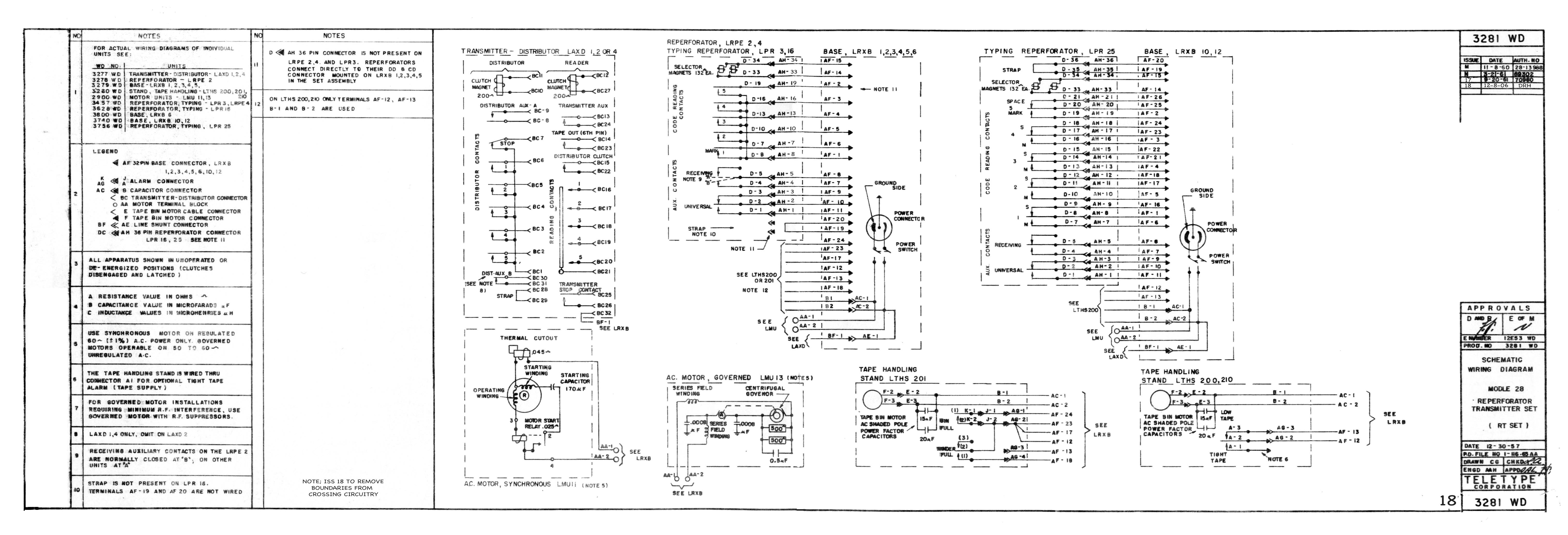 Teletype Wiring Diagrams and Schematics – Link Controls Wiring Diagram
